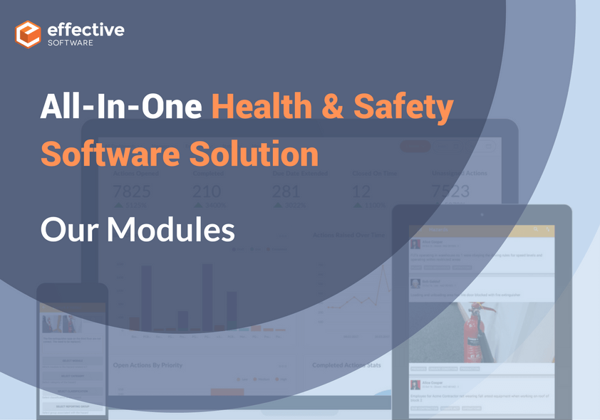 All-in-one Health and Safety Software Solution: Our Modules